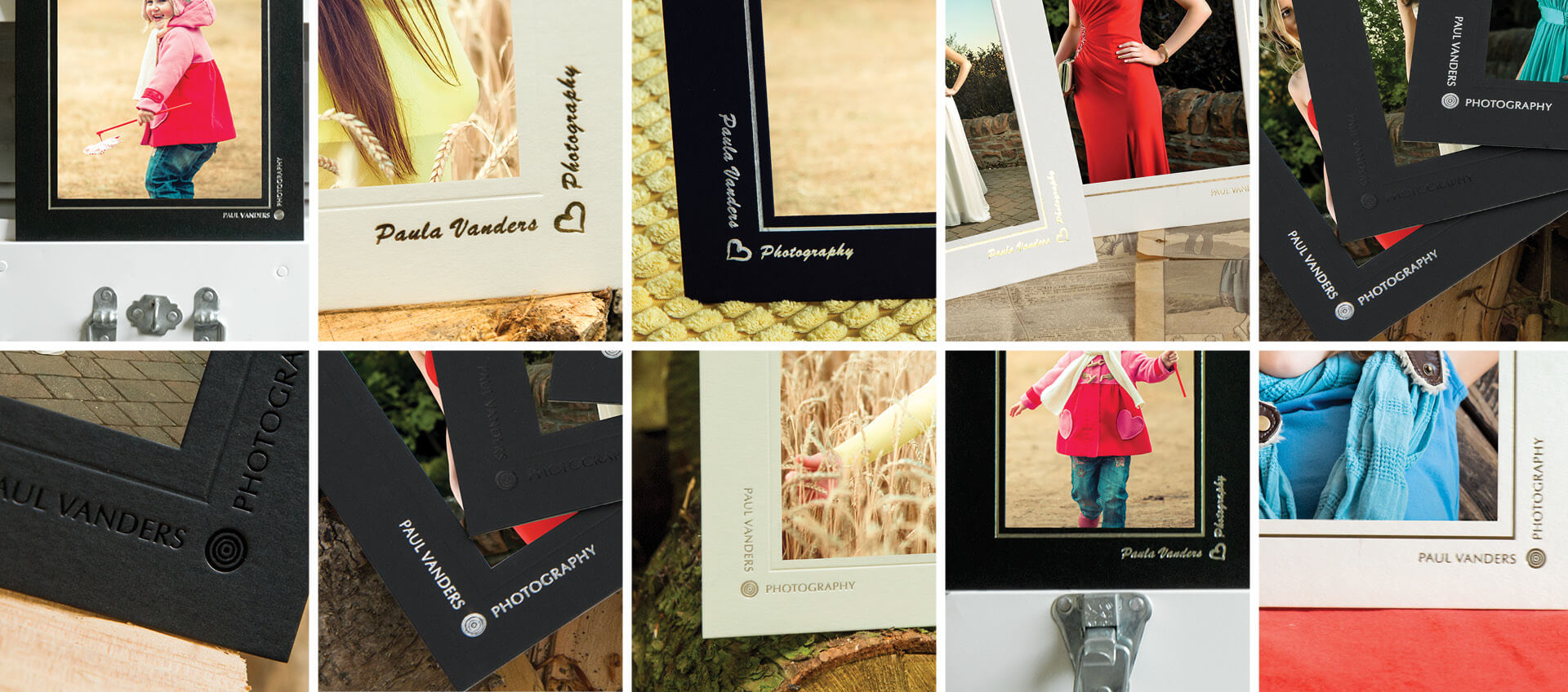 Brand your mounts and folders to promote your photography business