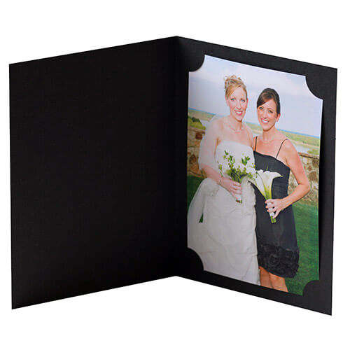 Ruby Black Cut Corner Photo Folders