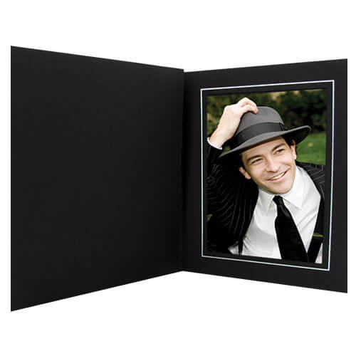 Topaz Black Slip-in Photo Folders